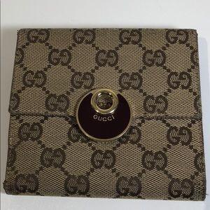 Authentic Gucci Monogram Brown Wallet